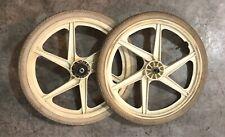 "White 87 OGK GT Performer 20"" Mags/tires Suntour BMX Freewheel Pro Performer PFT"