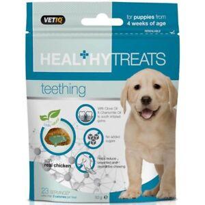 VetIQ Healthy Treats Teething Puppies 50g - Reduces Dental Discomfort & Soreness