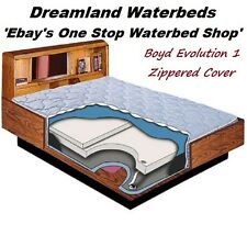 QUEEN Boyd Evolution 1 Hardside Waterbed Plush Zippered Mattress Cover