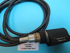 Grimes B-4235A-7 Aircraft Cockpit Instrument Panel Light With 6 ft. Wire Harness