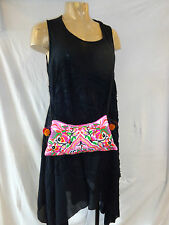 SAC POCHETTE ETHNIQUE HMONG , BRODE , NEUF / EMBROIDERED HMONG CLUTCH BAG