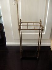 vintage brass and cast umberella stick stand