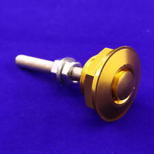 Golden Car Push Button Hood Pin Bonnet Lock Low Profile Click Quick Release