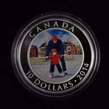 2014 $10 Fine silver coin  Learning to Skate , Skating in Canada BOX and CAO