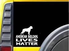 American Bulldog Lives Matter Sticker k170 6 inch dog decal