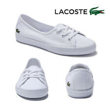 Lacoste Womens Ziane Chunky Canvas Trainers Ladies Low Cut Lace Up Pumps Shoes
