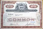 1962 Stock Certificate: 'Illinois Central Railroad Company' - IL RR