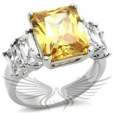 Brilliant 6ct Radiant Cut Cubic Zircon CZ AAA Engagement Ring 5 6 7 8 9 10 9X021