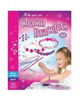 Kids Bracelet Making Kit Set Play Flowers Hearts Charms Children's Crafts no box