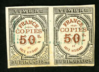 France Stamps Early Revenue Pair