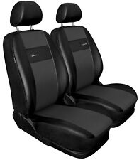 Front seat covers fit Alfa Romeo 147 black/grey  Leatherette