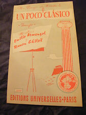 Partition Un poco classico chiloe Junon Tito Fussi 1961 Music Sheet