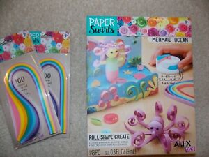 Alex DIY Paper Swirls Mermaid Ocean w/2 paper packs
