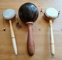 Job lot wooden musical instruments rattle and drums NEW