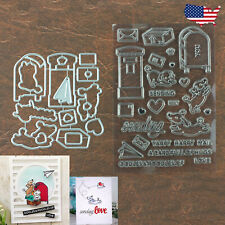 Oodles of Love Cutting Dies & Stamp Set Dogs Mailboxes Paper Airplane & More