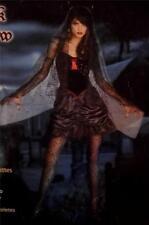 NEW Women's Dark Widow Witch Vampire Costume Dress Veil Gloves Size: M 8-10