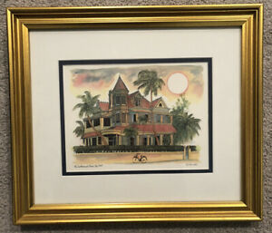 R E Kennedy Print SOUTHERNMOST HOUSE, KEY WEST With Frame