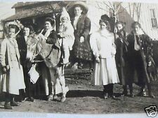 RPPC GROUP OF GIRLS NEXT TO/ON DONKEY REAL KRUXO PHOTO c.1908 ~ 1910 BW POSTCARD