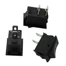 Good 5pcs 250V 3A Mini Boat Rocker Switch SPST ON-OFF 2-Pin Button AU