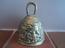 VINTAGE HEAVY BRASS CAST GUEST HOUSE/B. AND B./PUB/COUNTER/RECEPTION/CALL BELL.