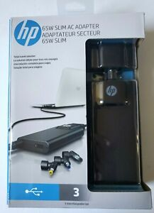 HP 65W Slim AC Adapter G6H47AA#ABA charge multiple devices 3 tips Brand New