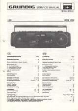 Grundig Service Anleitung Manual RCR 1750 B960