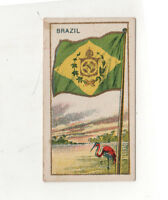 1910 BRAZIL FLAG E15 Tobacco Card AMERICAN CARAMEL Caramels BRASIL Brazilian