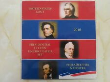 2010 Presidential $1 Coin Uncirculated P and D set still Sealed,  ALL 8 Dollars