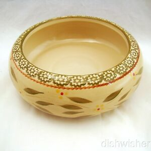 """Temp-tations OLD WORLD GREEN Single 1.5-Quart Stacking Bowl 9"""" x 3"""" EXCELLENT"""