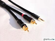 B03 (1.5m 5ft) --- 3.5mm HIFI TRS(m) Stereo to Dual(2) RCA 4N-OFC Audio Cable