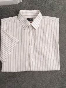 """Thomas Nash short sleeve stripe shirt - 17"""""""