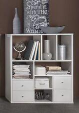 Wilmes: Regal mit 7 Fächer / 4 Schubladen - Wohnzimmerregal Bücherregal - Weiß