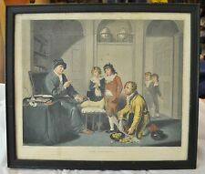 "W. R. Bigg ""The Truants"" 1801 Antique Engraving by W. Ward on Paper w Wood frame"