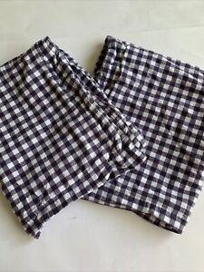 Pottery Barn Kids Standard Pillow Sham Set of 2 Purple Flannel Buffalo Check
