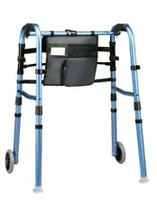 Explorer Walker Wheels Folding Glides NIB Stylish Storage Adjustable Legs Height