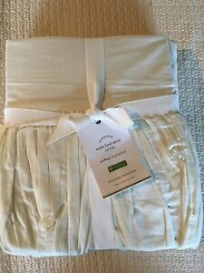 Pottery Barn VOILE Ruffle Queen Cal King Bed Skirt Gorgeous Ivory