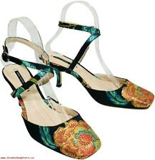 8407746f7d6 NWT ZARA EMBROIDERED KITTEN HEEL SLINGBACK SHOES 6236 201 Size 6 1 2 EUR