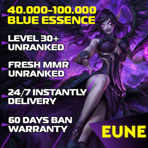 League of Legends LoL EUNE Account 30-40 Level accounts Smurf BE IP Unranked  PC