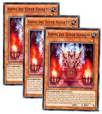 Set 3X ANIMA DEL SUPER SOLDATO Black Soldier Soul DOCS-IT021 Comune ITA YUGIOH
