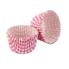 TALA Pack 32 Pink Gingham Greaseproof Cupcake Cases. Home Baking/Cake Making