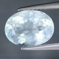 Certificate Include 2.26Cts Natural Blue Topaz Oval Untreated Loose Gemstone