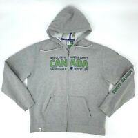 Vancouver Olympics 2010 Sweater Men's Size L Full Zip Hoodie Winter Sports Games