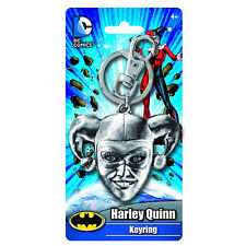 DC Comics Batman Harley Quinn Head Keychain NEW Keyring Toys Pewter Metal
