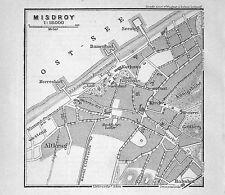 MISDROY (Międzyzdroje), alter Stadtplan, gedruckt ca. 1900