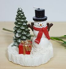 Set of 2 Snowman & Tree Candle Decoration Christmas Theme Gift