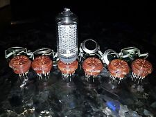 Sockets+fasteners for Nixie Tubes IN-8,IN-2,A-107,A-108,A-109 NOS Lot of 6 set