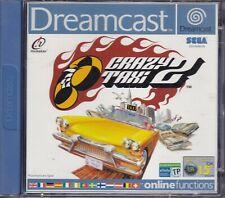 CRAZY TAXI 2 Sega Dreamcast Dc Versione Europea PAL COMPLETO COME NUOVO