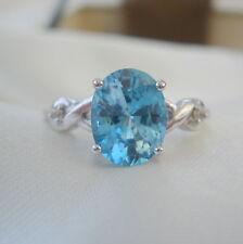 2.90ct Certified Ratanakiri Blue Zircon White Gold Ring