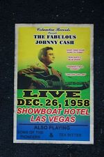 Johnny Cash Poster 1958 Showboat Hotel Las Vegas