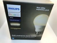 New Box of 6 Phillips Hue White Smart Lught Bulbs: A19, 840 Lumen